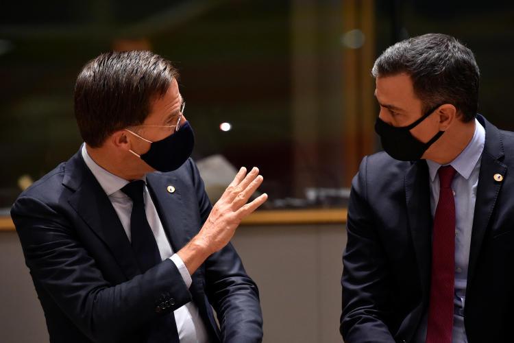 Pedro Sánchez y Rutte