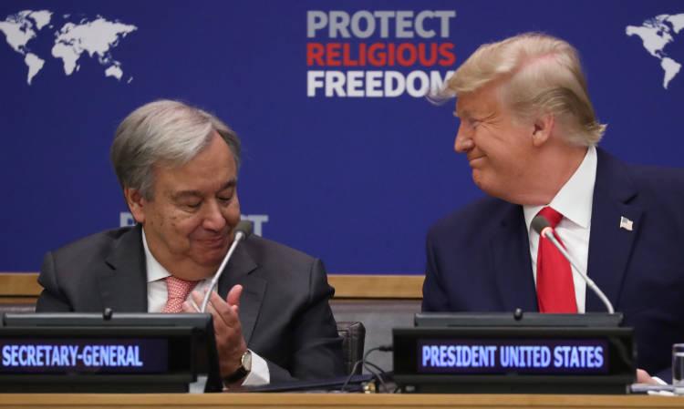 Guterres con Trump