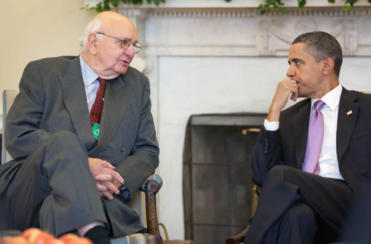 Volcker con Obama