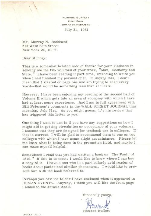 carta padre buffett