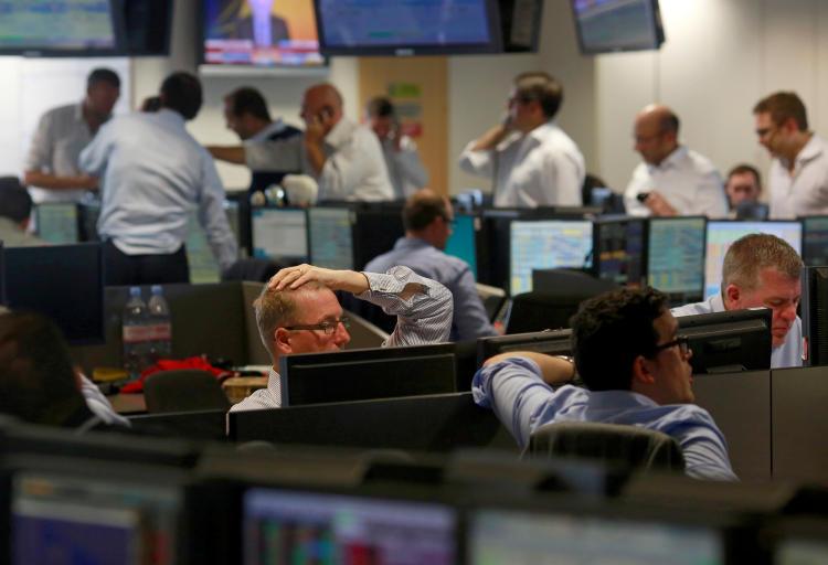 Traders en un Broker de Londres el 24 de junio de 2016 (Fuente: Reuters)