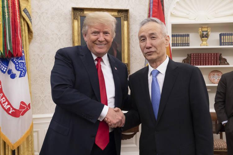 Donald Trump y Liu He