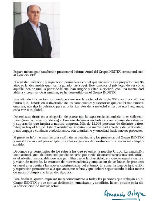 amancio ortega 1998