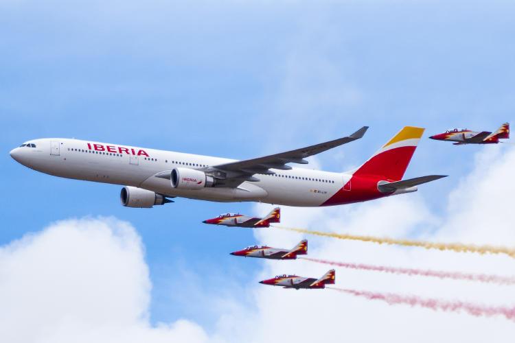 Avión Iberia IAG