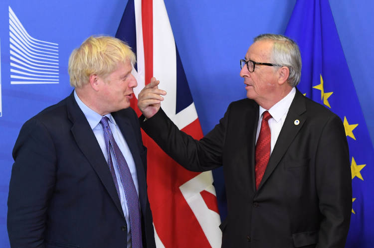 Boris Johnson y Jean Claude Juncker