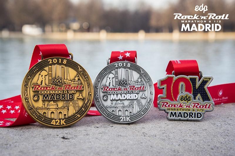 Medallas del Maratón, Media Maratón & 10K de Madrid - A TU RITMO