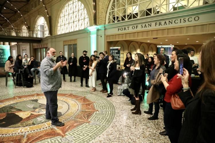 El chef José Andrés promociona la aceituna española en San Francisco (Foto Twitter Asemesa)